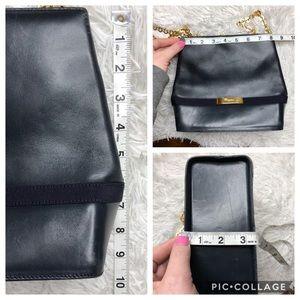Salvatore Ferragamo Bags - Vintage Salvatore Ferragamo Navy Leather Purse